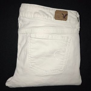 American Eagle White Skinny Jegging Jeans 10 29